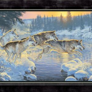 framed-through-the-woods-wolves-canvas-kromschroeder-f476738571