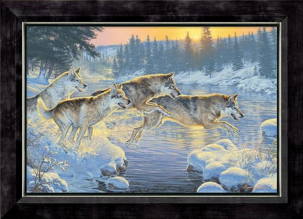 framed-through-the-woods-wolves-canvas-kromschroeder-f476738571